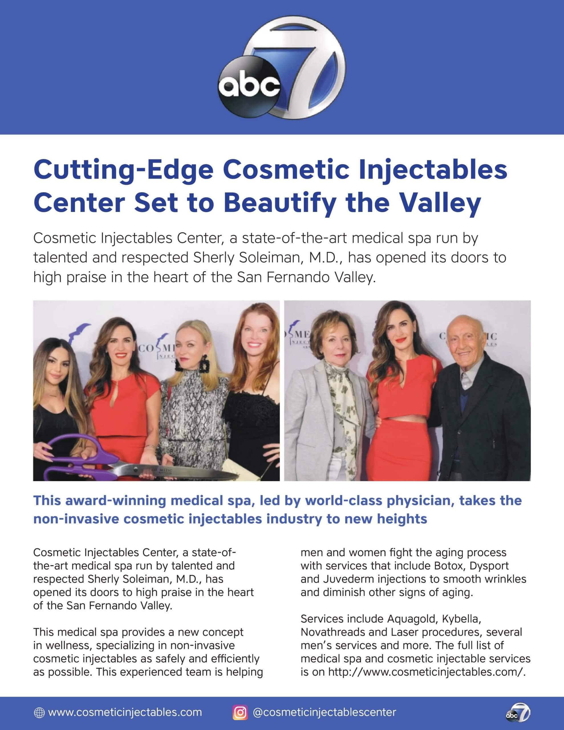 Cosmetic Injectables medical spa Grand Opening